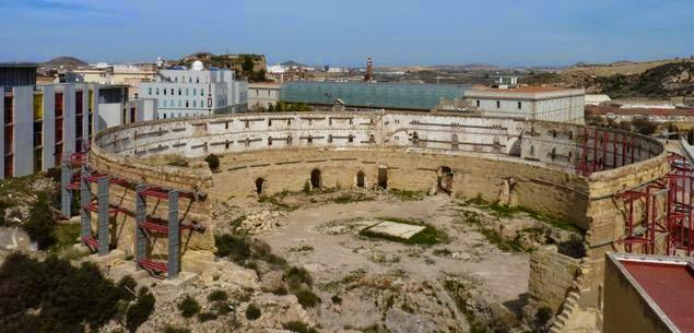 Restos romanos de Cartagena.