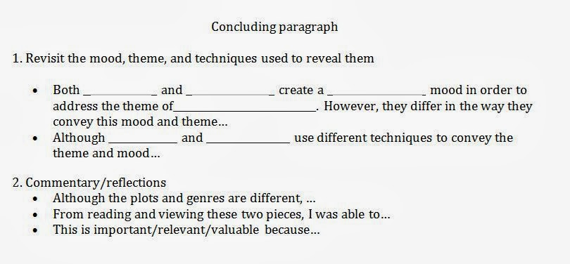 sentence frames for compare and contrast