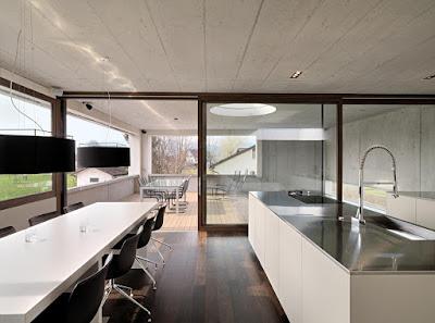 Küche Mit Edelstahl Arbeitsplatte