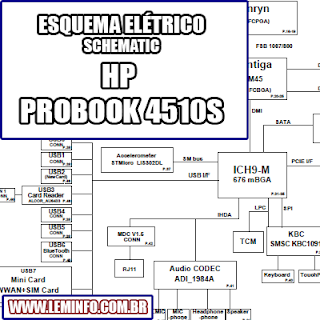 Esquema Elétrico Notebook Laptop HP Probook 4510s  Manual de Serviço  Service Manual schematic Diagram Notebook Laptop HP Probook 4510s     Esquematico Notebook Laptop HP Probook 4510s