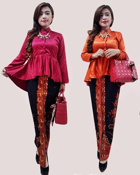 model baju batik rok dan blus
