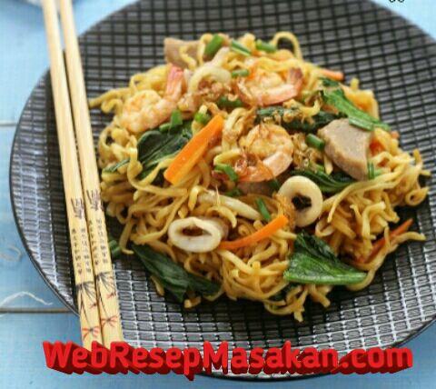 Mie goreng udang bakso, Resep Mie Goreng Udang Seafood, Cara membuat mie goreng udang seafood,