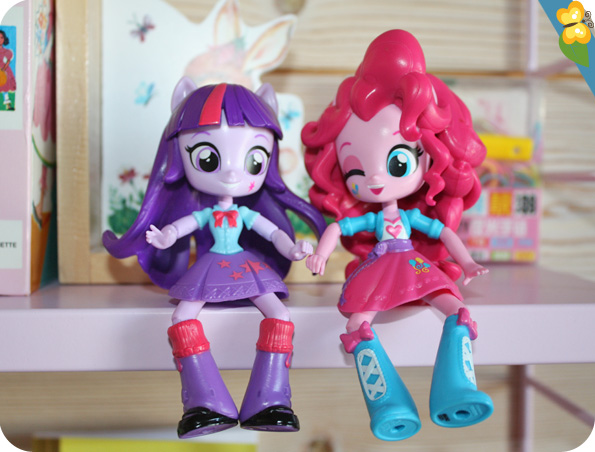 Poupées Equestria Girls Minis : Pinkie Pie, Twilight Sparkle