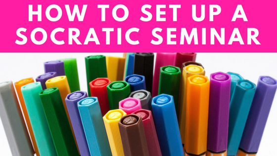 How to set up a socratic seminar in your english language arts classroom! An easy step-by-step guide with free resources!
