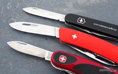Klingenvergleich Schweizer Messer