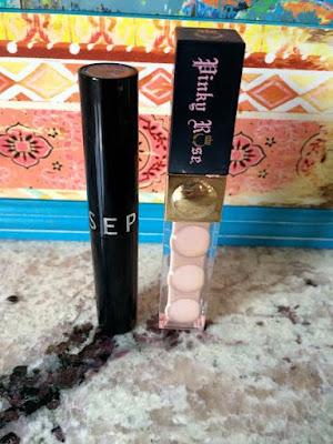 Sephora lipstick next to pinkyrose cosmetic lipstick