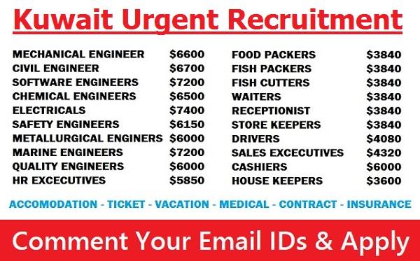 Urgent Recruitment To Oil & Gas Jobs In KUWAIT | All Gulf