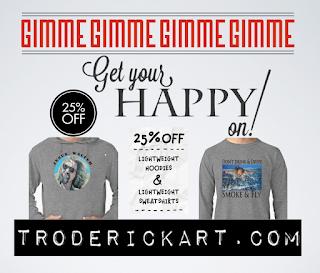 25% of coupon code promo troderickart.com
