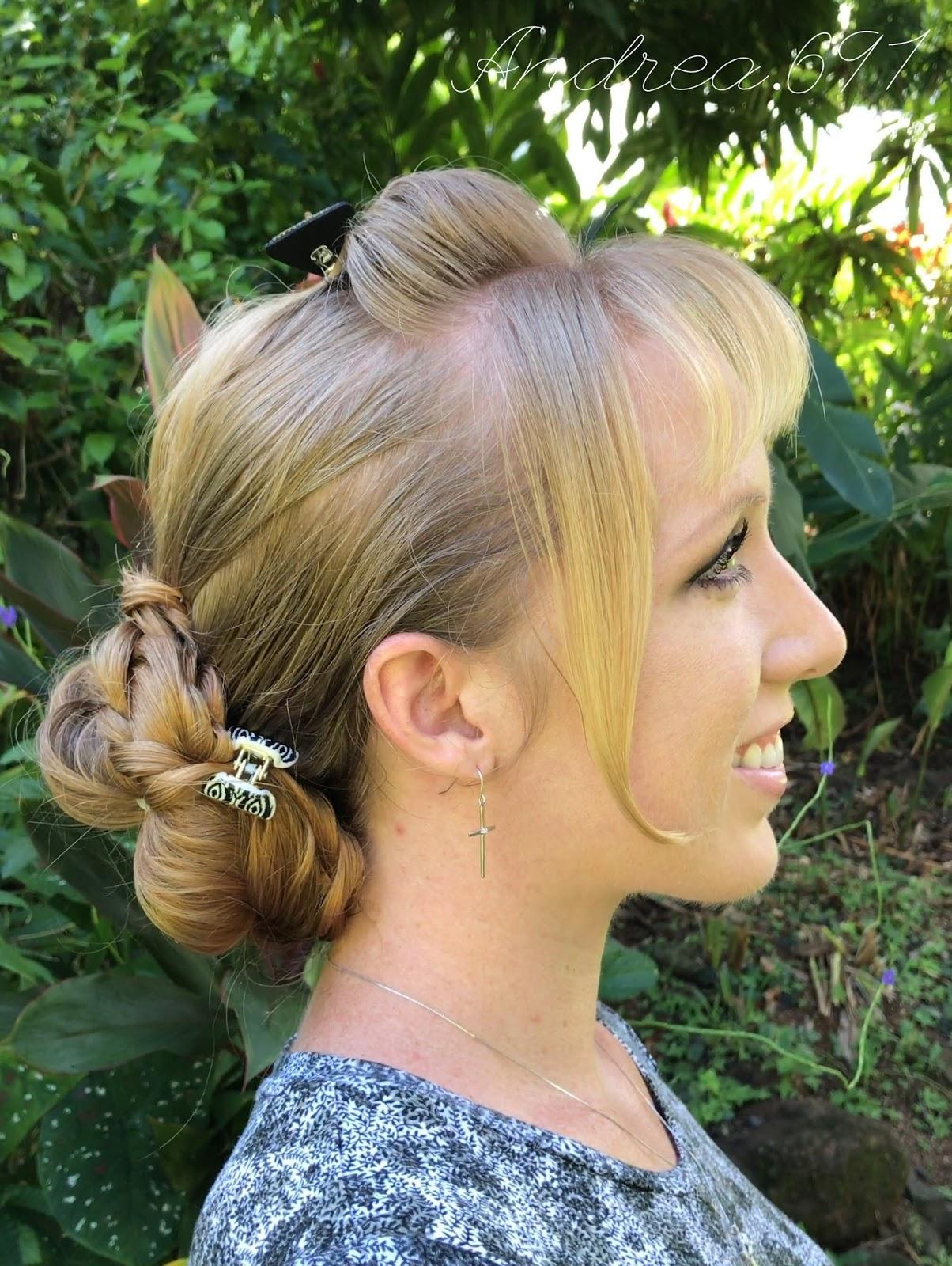 Braids & Hairstyles for Super Long Hair Braided low bun casual