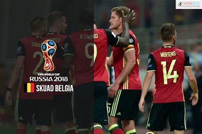 Skuad Susunan Pemain Belgia di Piala Dunia 2018