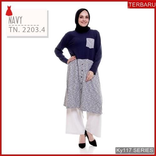 Ky117t80 Tasan Muslim Kayraa Murah Tunic Bmgshop Terbaru