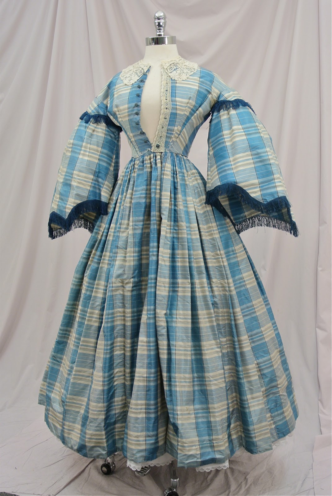 All The Pretty Dresses Mid 19th Century Victorian Plaid Dress redone in the early 1860s