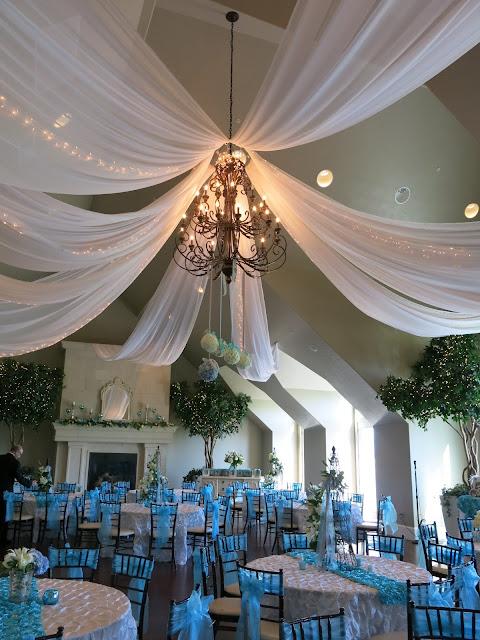 An Aqua French Inspired Wedding Reception Purple Chocolat Home