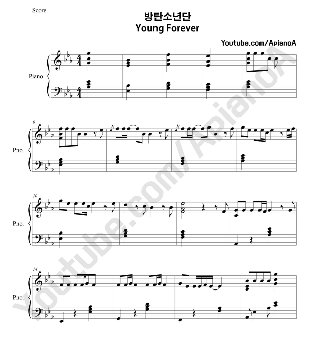 math worksheet : apianoa kpop piano cover bts young forever piano ...