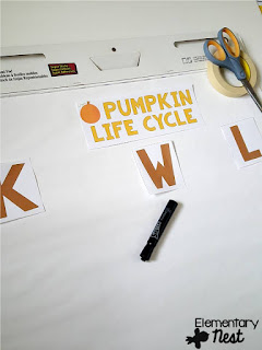 FREE KWL chart for pumpkin life cycle- Fall Science- activities to help integrate science into your fall teaching