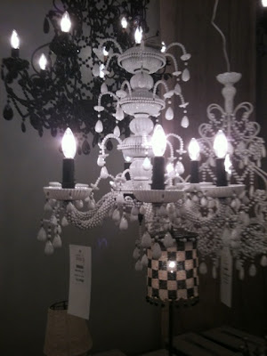 Victoria Dreste Designs Shades Of Blue And White Chandeliers