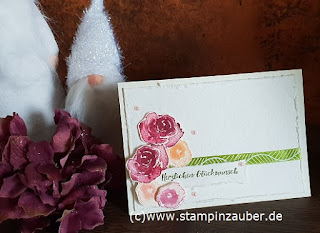 Karte mit den Eisblüten von Stampin Up