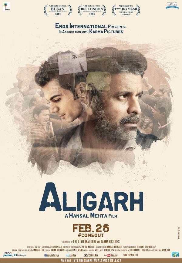 Aligarh 2016 Hindi Movie 350MB HDRip ESubs Download