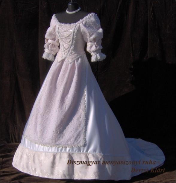feb49b22c1 Díszmagyar menyasszonyi ruha - 69.000 Ft értékű ajándékkal - ELADÓ