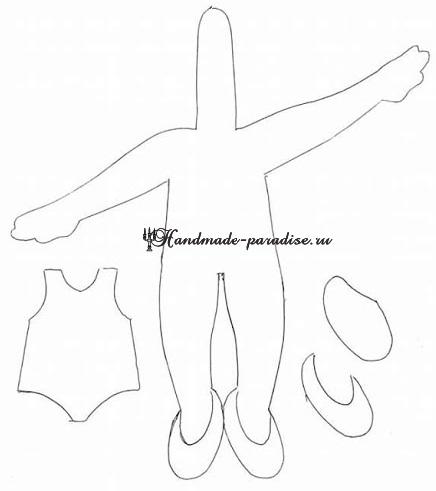 Танцующие балеринки из фетра, 4 выкройки (4)