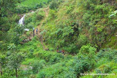 "Jalur ""pendakian"" menuju Curug Muncar Petungkriyono"