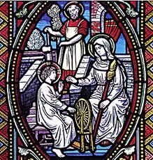 Resultado de imagen de sagrada familia de nazaret vidriera