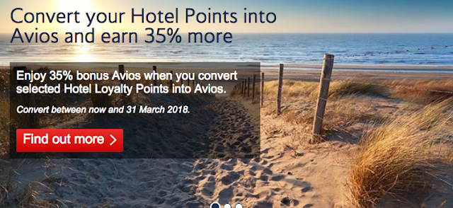 British Airways Executive Club 35 Bonus Avios When You Transfer Hotel Points Until March 31