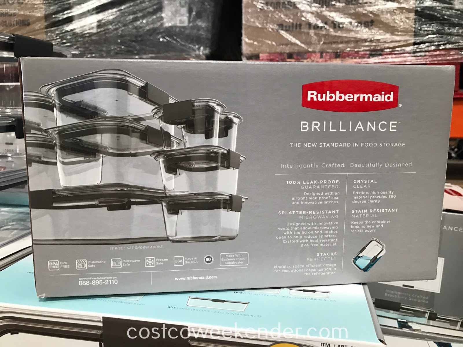Rubbermaid Brilliance 18-piece Food Storage Set: great for leftovers