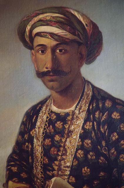 Oil painting of Tipu Sultan by John Zoffany at  Daria Daulat Bagh, Srirangapatna