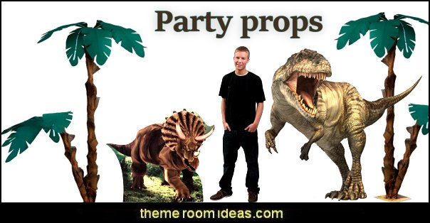 dinosaur party decorating props