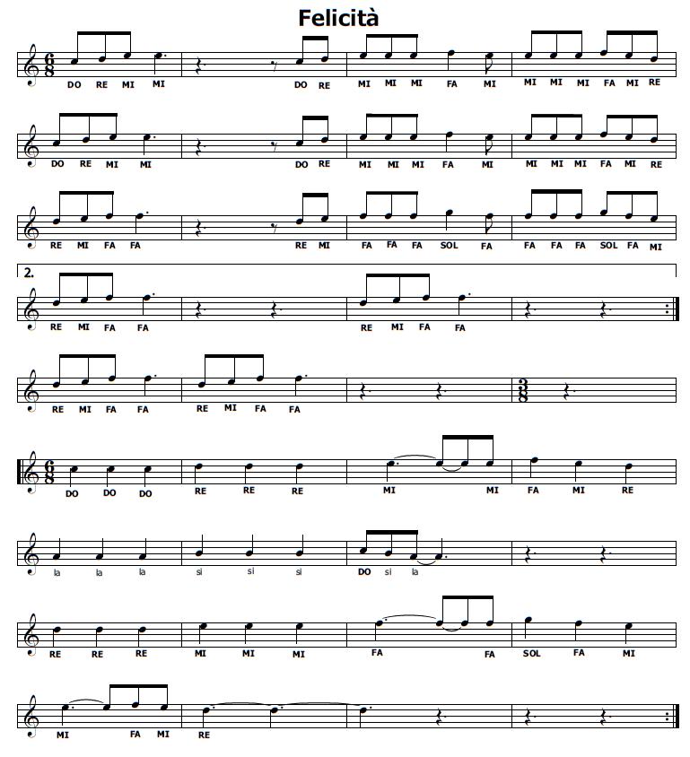 abbastanza Musica e spartiti gratis per flauto dolce: Felicità Al Bano e  MV87