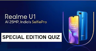 All Answers of Amazon Special Edition Quiz - Win Realme U1 Smartphone