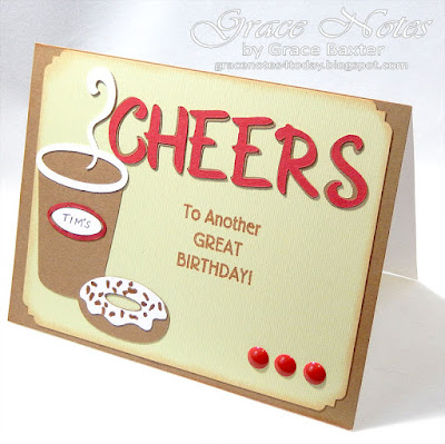 Cheers, birthday card designed by Grace Baxter