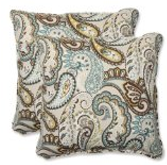 Pillow Perfect Outdoor Tamara Paisley Quartz Throw Pillow