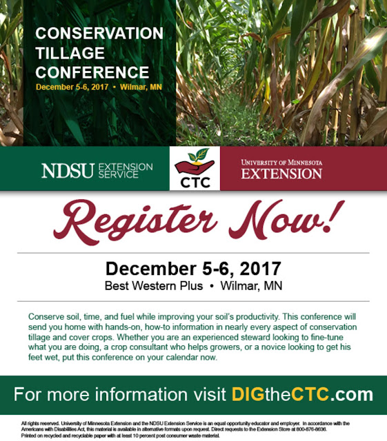 Conservation Tillage Conference, December 5 through 6, Wilmar, Minnesota