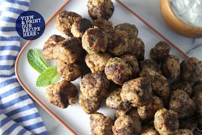 INTERNATIONAL:  GREECE: Meatballs (Keftedes) and Tzatziki Sauce