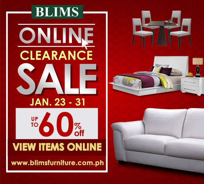Manila Shopper: BLIMS Furniture Online Clearance SALE: Jan