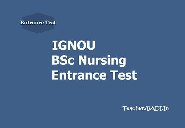IGNOU BSc Nursing Entrance Test