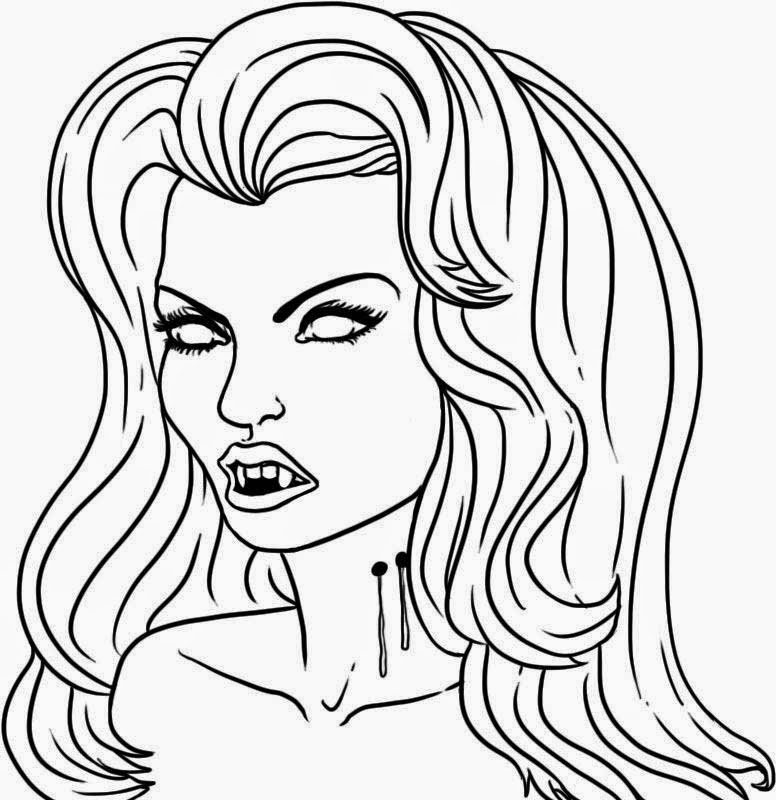 Coloring Pages: Fashionable Girls free printable coloring