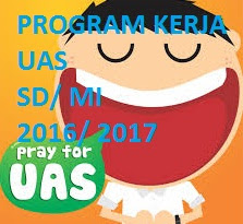 Program Kerja UAS Semester 1 SD/Mi 2017/2018