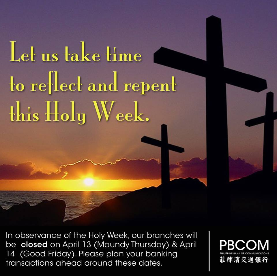 PBCOM Holy Week 2017 schedule