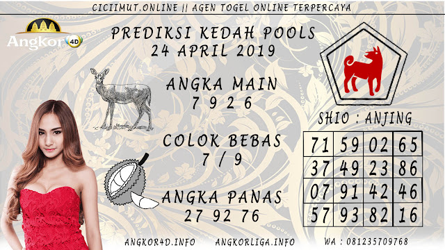 Prediksi Angka Jitu KEDAH POOLS 24 APRIL 2019