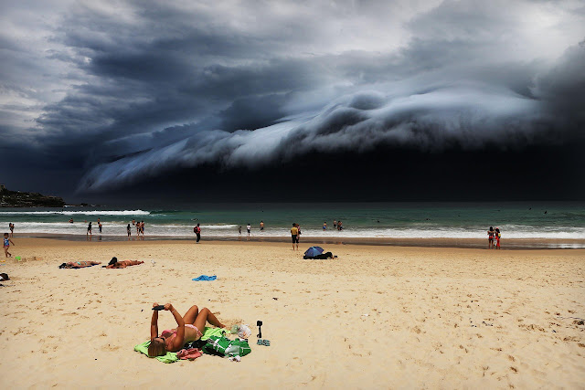 Storm Front on Bondi Beach - Rohan Kelly
