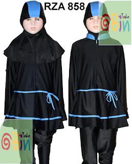 baju renang muslimah syari untuk anak RZA 858