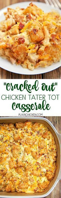 Cracked Out Chicken Tater Tot Casserole