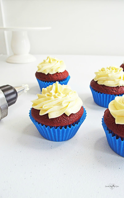 Patriotic Cupcakes recipe from Served Up With Love