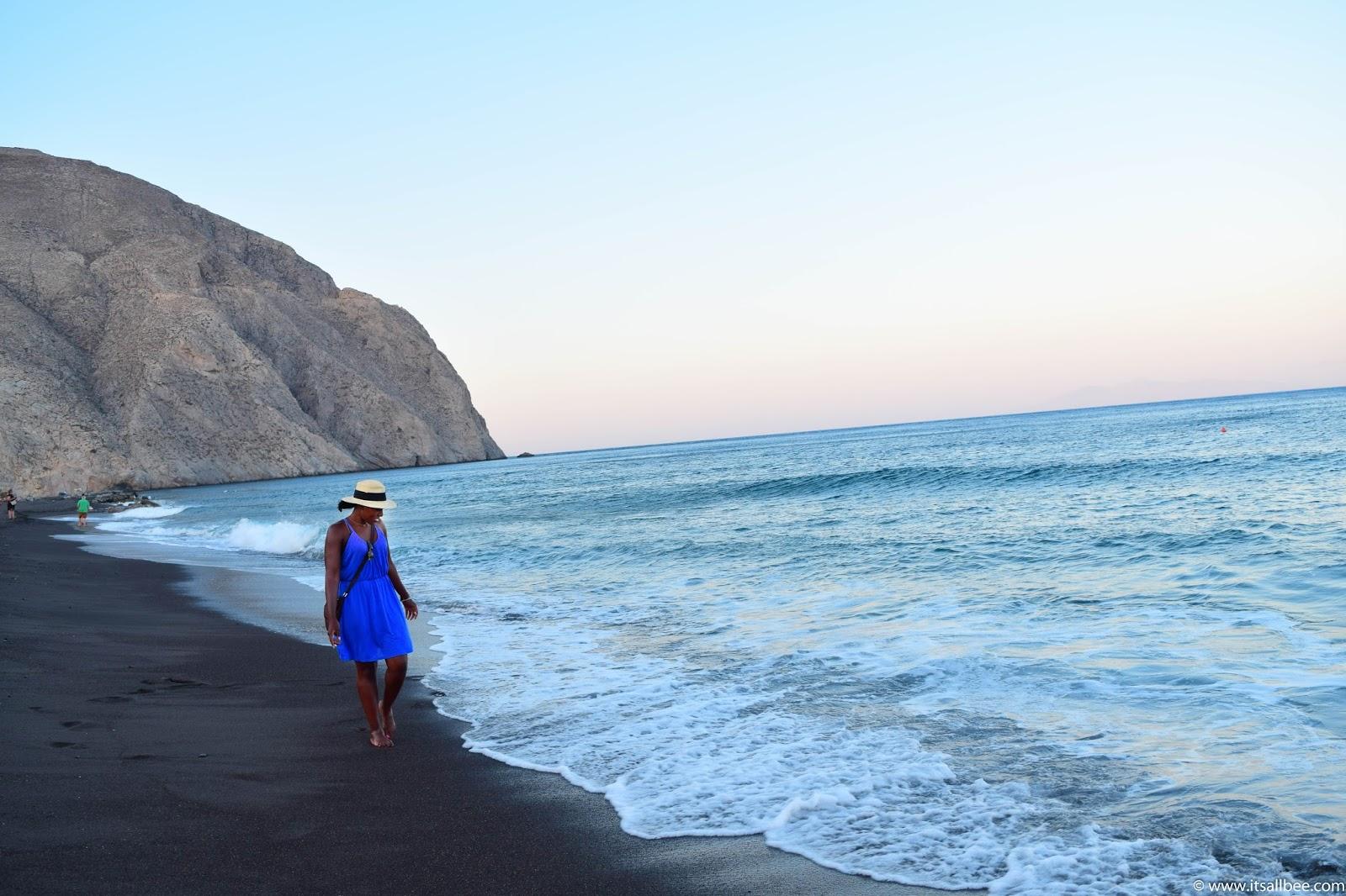black beach santorini - Perissa Beach | Guide To The Best of Santorini Beaches