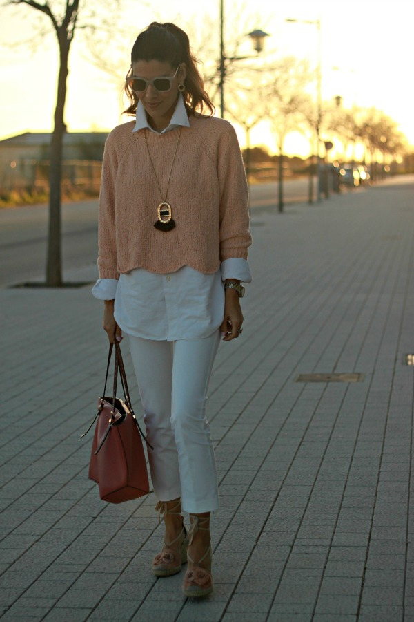 Mid season, look rosa y blanco