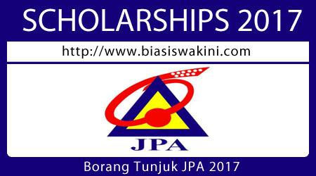 Borang Tunjuk JPA 2017