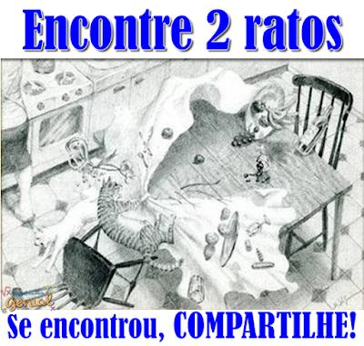 Teste de visão: Encontre 2 ratos